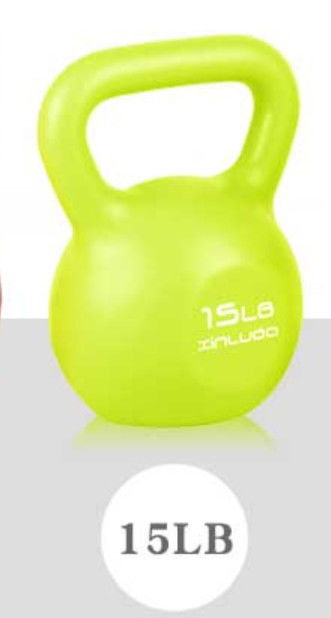 House Cast Iron Kettlebell 15 Lbs Prevent Cardiovascular Diseases , Heart Attack